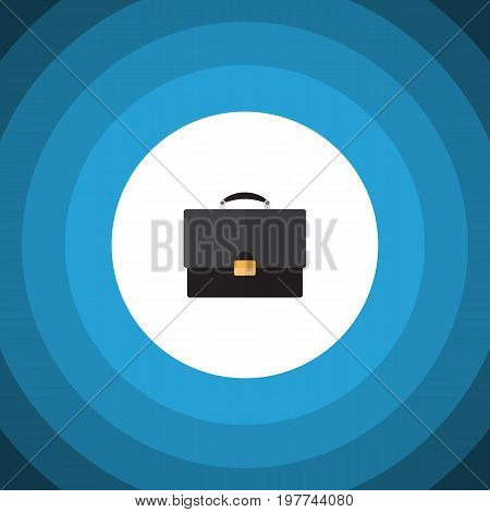 Portfolio Vector Element Can Be Used For Portfolio, Briefcase, Diplomat Design Concept.  Isolated Briefcase Flat Icon.