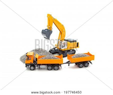 Toy Cable Excavator And Heavy Truck
