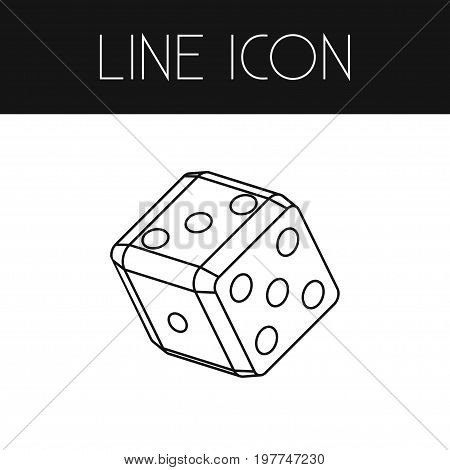 Number Vector Element Can Be Used For Cube, Number, Square Design Concept.  Isolated Cube Outline.