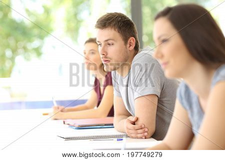 Distracted Student At Classroom