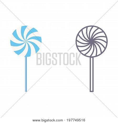 Lollypop. Vector icons on white isolated background
