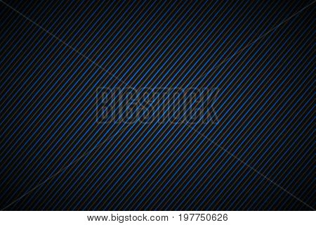 Dark abstract background blue and gray striped pattern diagonal lines and strips vector illustration