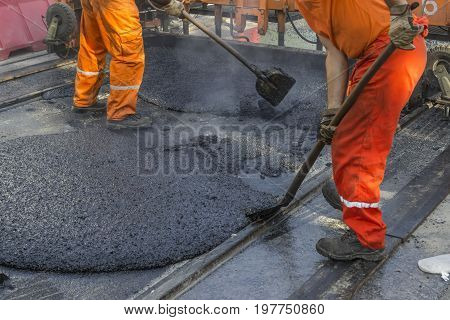 Laying Of Mastic Surface