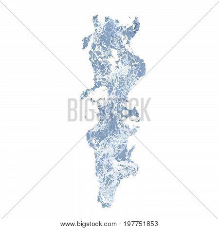 water splash shape on white background. Abstract 3d rendering illustration