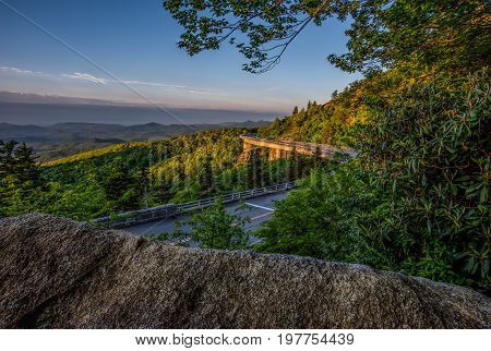 Early Morning Light On Linn Cove Viaduct in North Carolina