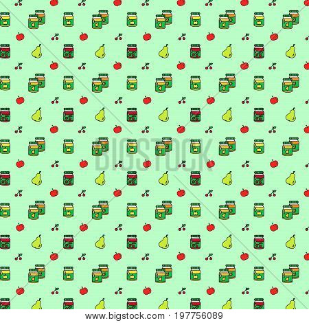 Seamless pattern of conservation preservation vector illustration sketch