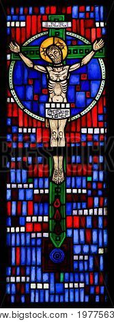 Stained Glass In Worms - Jesus On The Cross