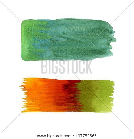 Watercolor background set. Painted abstract background. Stylish isolated backdrop