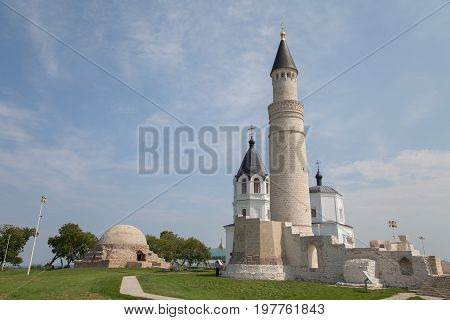 Beautiful Mosque And Church, Against The Blue Sky