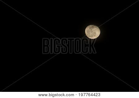 Fullmoon full moon Juli at night sky