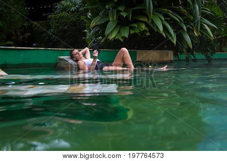 Relaxing In The Hot Pool