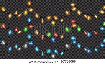 Seamless Christmas Translucent Fairy Lights