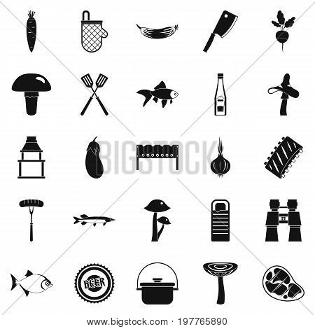 Picker icons set. Simple set of 25 picker vector icons for web isolated on white background