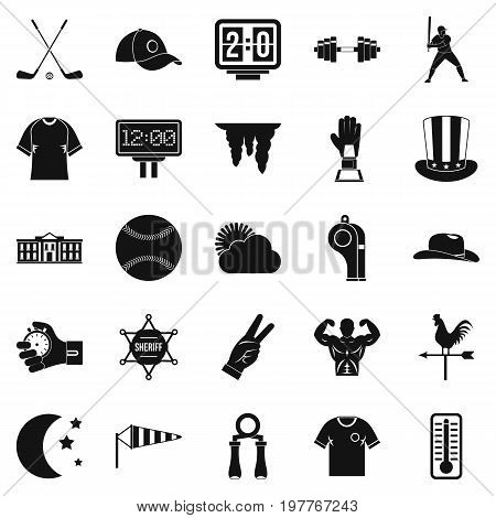 Match icons set. Simple set of 25 match vector icons for web isolated on white background