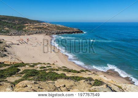 Foz Do Lizandro Beach In Ericeira, Portugal.