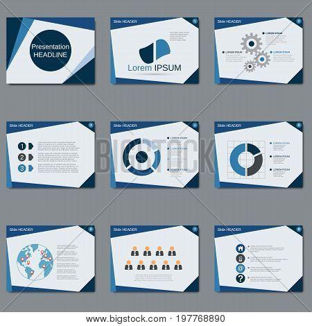 Professional business presentation, slide show vector design template