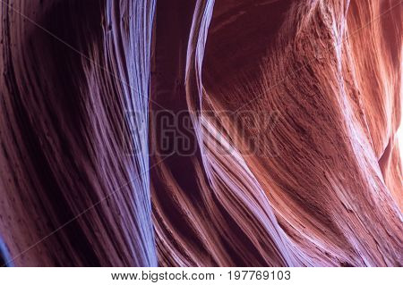 Natural stone background in slot canyon Antelope natural landmark. Navajo Reservation Arizona USA