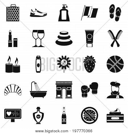 Relax icons set. Simple set of 25 relax vector icons for web isolated on white background