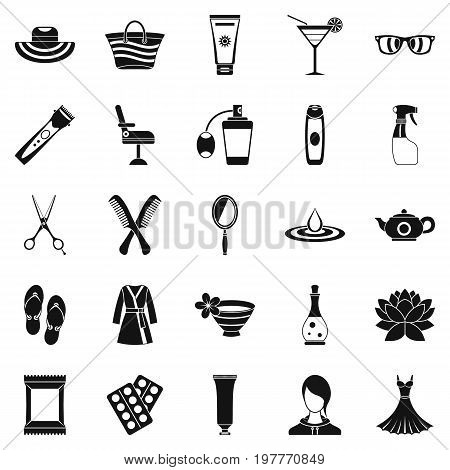 Toiletry icons set. Simple set of 25 toiletry vector icons for web isolated on white background