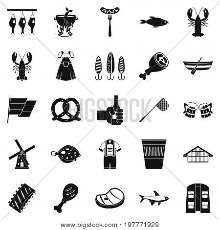 Evening with wine icons set. Simple set of 25 evening with wine vector icons for web isolated on white background