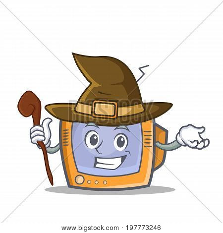 Witch TV character cartoon object vector illustration