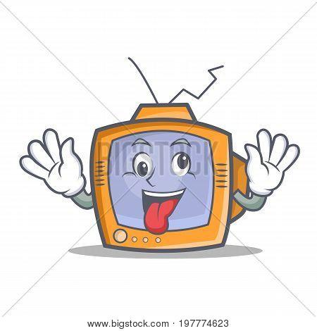 Crazy TV character cartoon object vector illustration