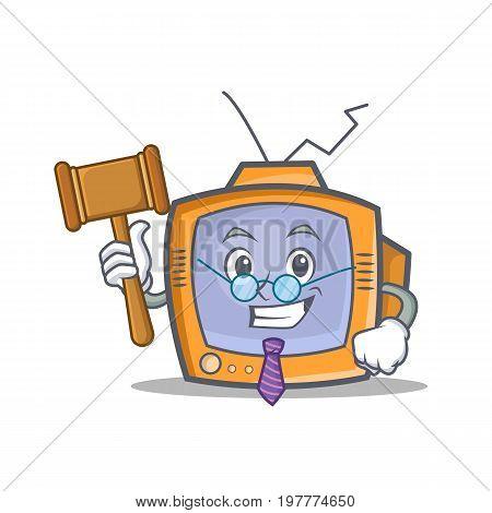 Judge TV character cartoon object vector illustration