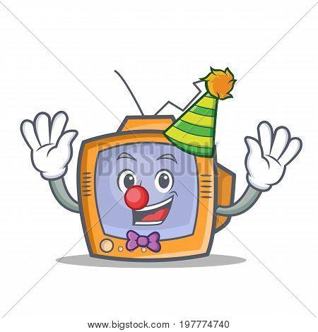 Clown TV character cartoon object vector art