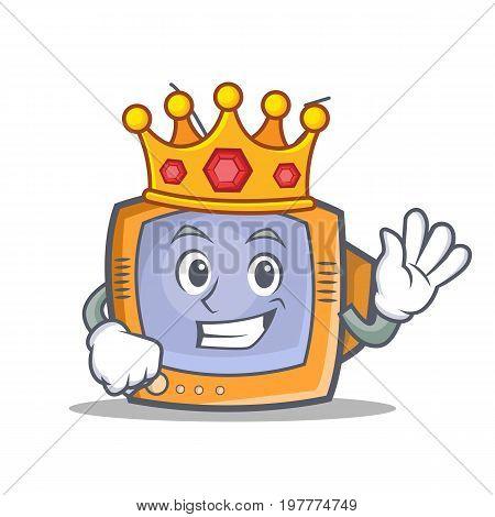 King TV character cartoon object vector art