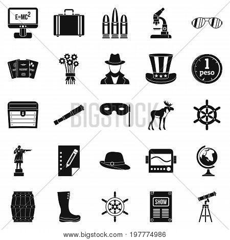 Binoculars icons set. Simple set of 25 binoculars vector icons for web isolated on white background
