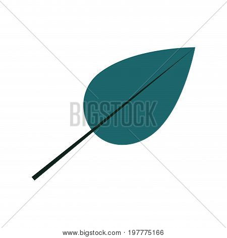 white background with colorful silhouette of heart shaped leaf vector illustration