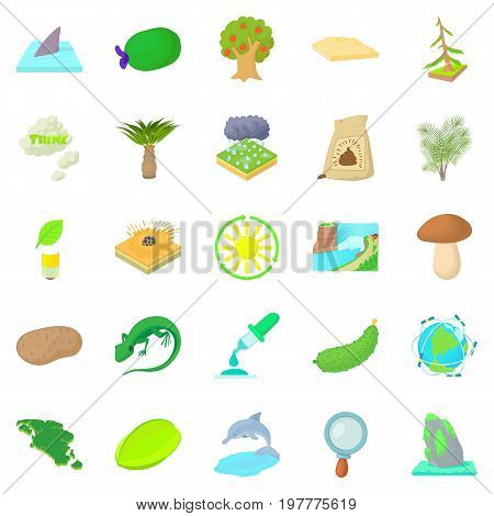 Isle icons set. Cartoon set of 25 isle vector icons for web isolated on white background