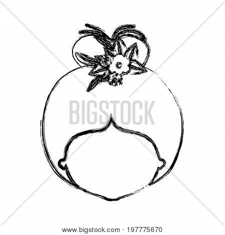 monochrome blurred silhouette of caricature faceless woman with bun collected hairstyle and crown decorate with flowers vector illustration