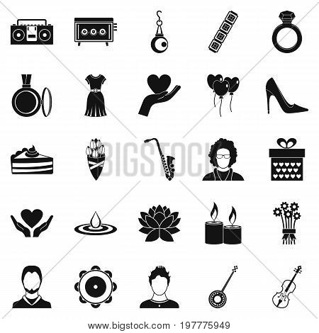 Disco icons set. Simple set of 25 disco vector icons for web isolated on white background