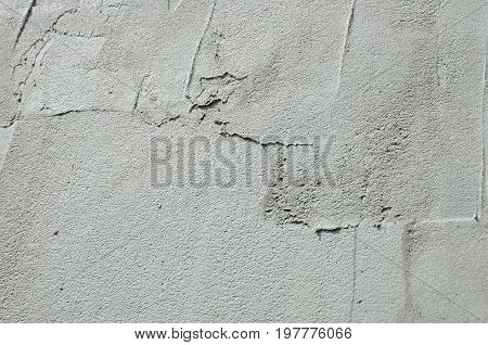 The Texture Of The Wall, Covered With Gray Foam Polystyrene Plates, Which Are Smeared With A Reinfor
