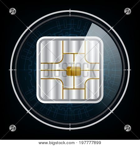 Technology Radar Screen Security Card Chip