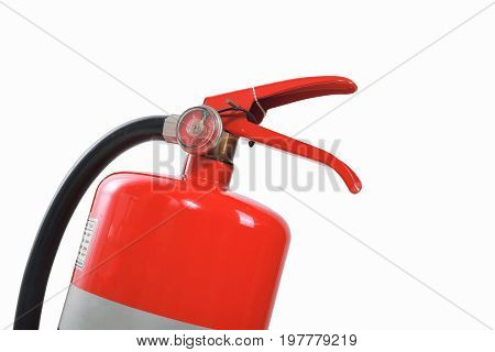Fire extinguisher isolated white background. with clipping path