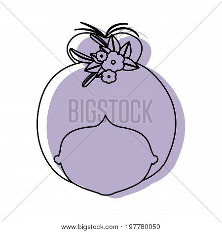 silhouette lilac color shadow of contour caricature closeup front view faceless woman with bun collected hairstyle and crown decorate with flowers vector illustration