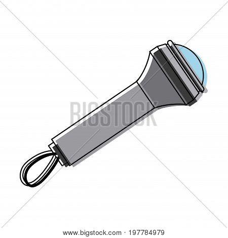 metallic flashlight luminescence equipment device vector illustration