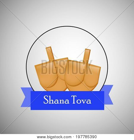 illustration of shana tova text with honey on the occasion of Jewish New Year Shanah Tovah. Translation: a good year