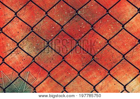 Chain link fence as grunge background mixed media