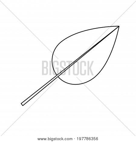 white background with monochrome silhouette of heart shaped leaf vector illustration