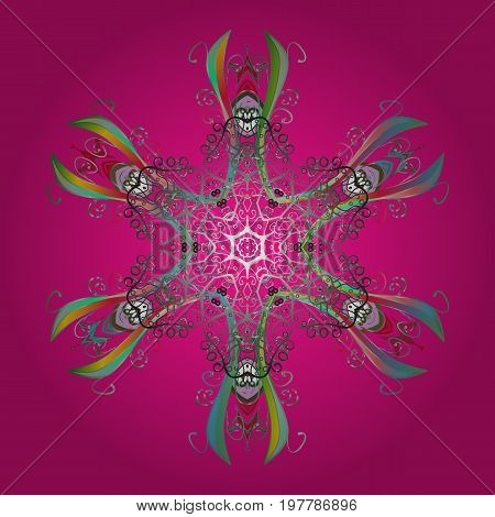 Fine winter ornament. Snowflakes collection. Isolated of vector snowflakes. Vector illustration.