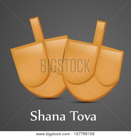 illustration of shana tova text on the occasion of Jewish New Year Shanah Tovah. Translation: a good year