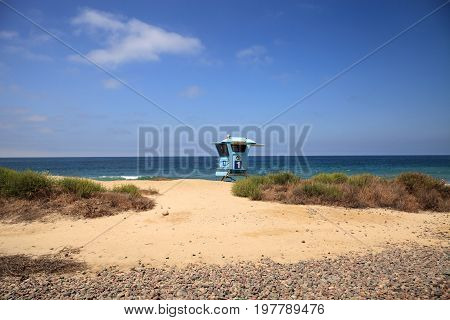 Lifeguard Tower At The San Clemente State Beach