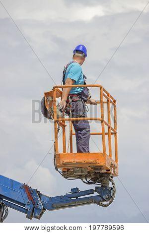 Electrical Worker In Lift Bucket 2