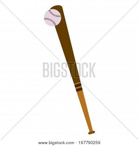 baseball bat and ball game hardball equipment vector illustration