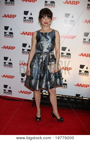 LOS ANGELES - FEB 7:  Rebecca Pidgeon arrives at the 2011 AARP