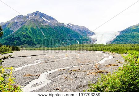A view of the Exit glacier out side of Seward Alaska