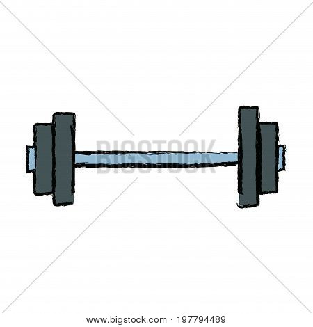 gym dumbbell bodybuilding and weightlifting sport equipment vector illustration poster